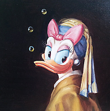 LT-Daisy with Pearl Earrings 12x16 Oil on Canvas SOLD