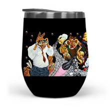 """Down to the Finish"" 12oz Travel Tumbler_MA"