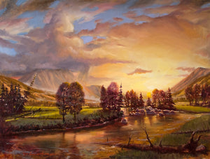 "RL_Evening Brilliance ""30x40"" Original"