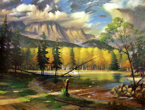 "RL_High Country ""30x40"" Original-SOLD"