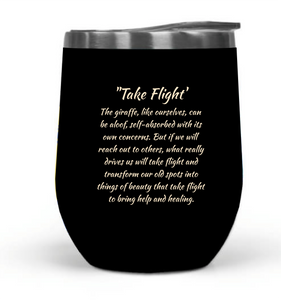 """Take Flight"" 12oz Travel Tumbler_MA"
