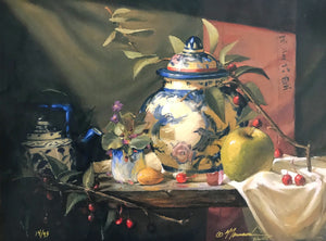 "Limited Edition Giclee Canvas Art Print-Asian Vase 11""x14""_RR"