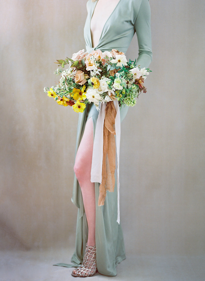 Mint Green Jersey Gown