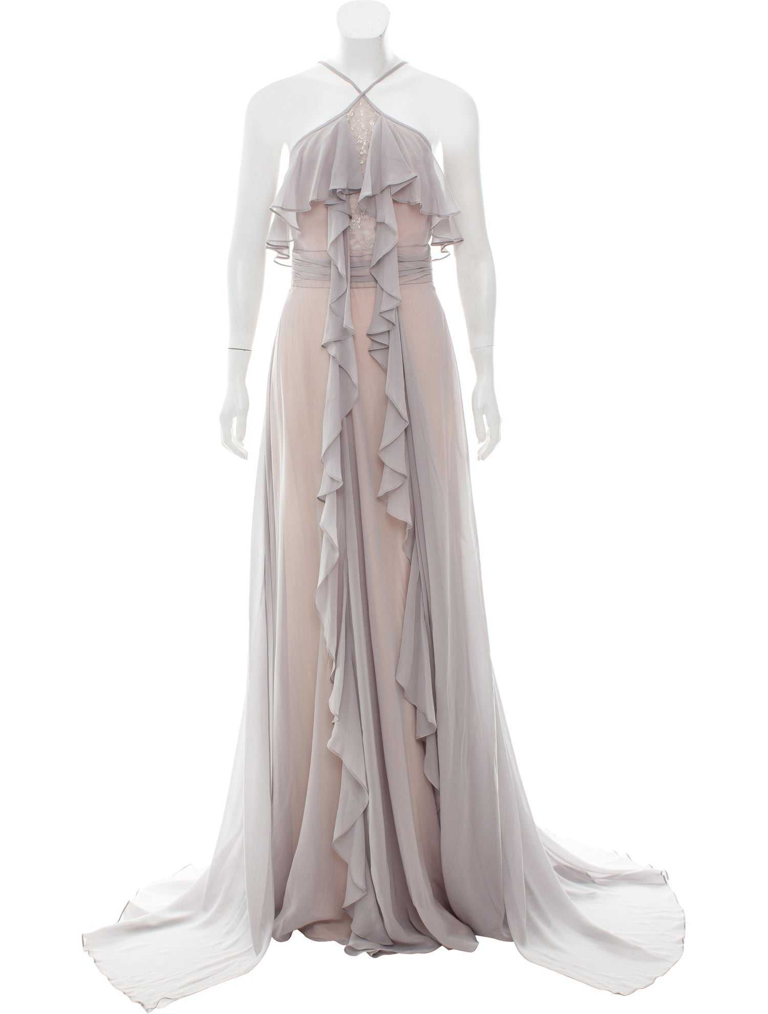 Lavender and Nude Gown