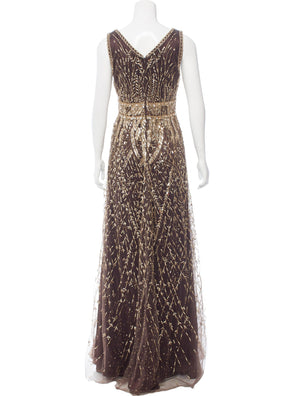 Chocolate Embellished Gown