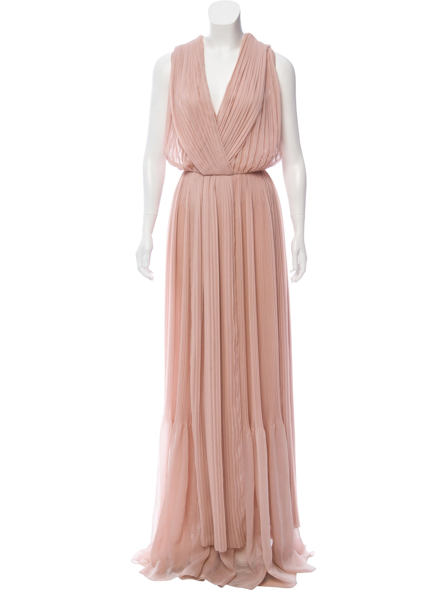 Dusty Pink Pleated Gown