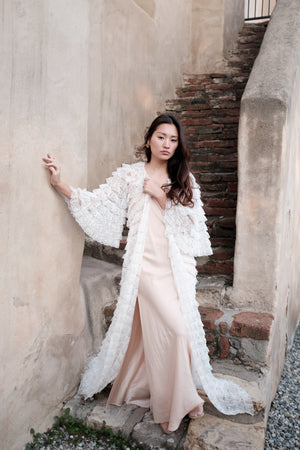 Ruffle Lace Dressing Gown
