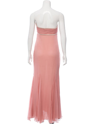 Rose Pink Strapless Gown