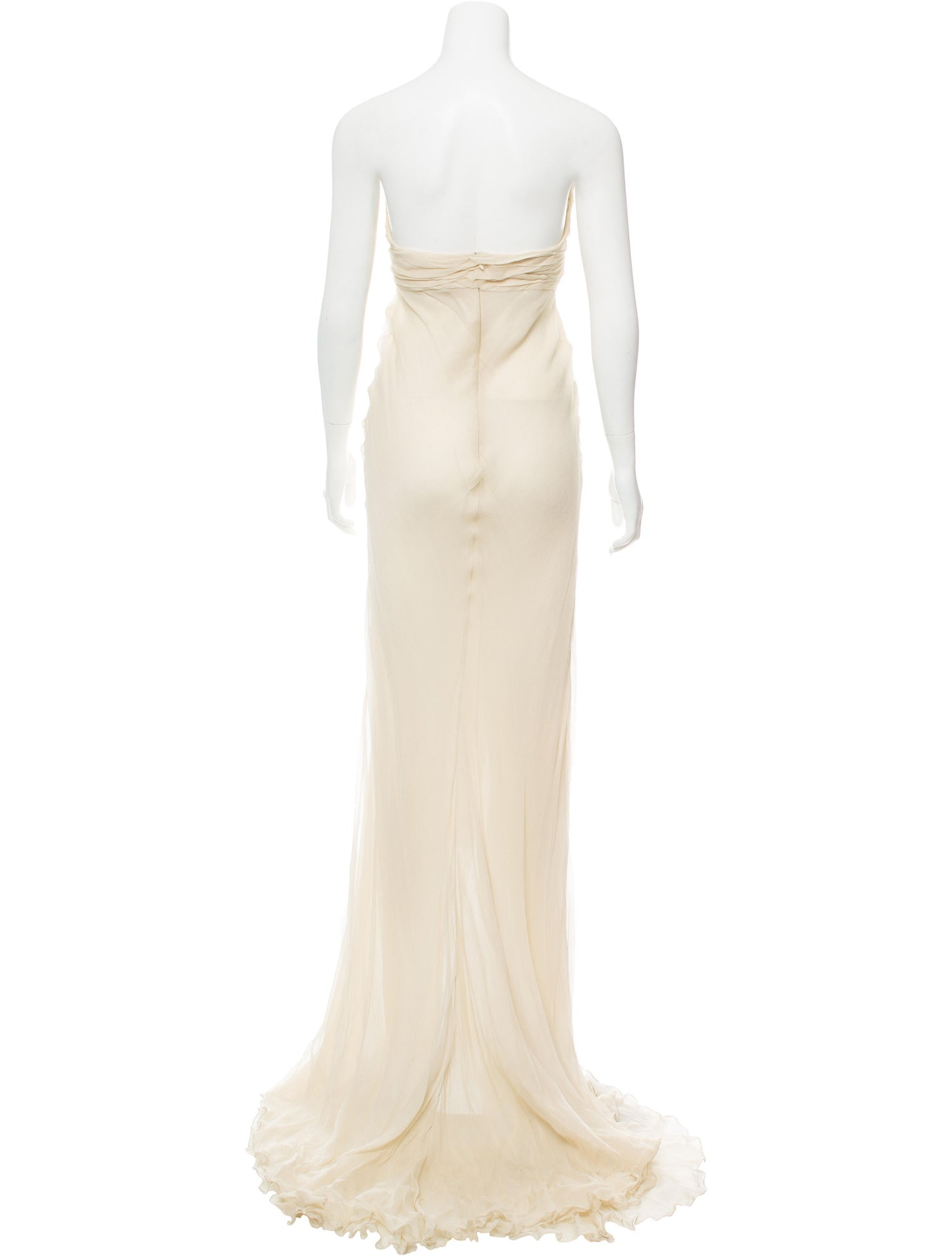 Cream Sweetheart Bodice Gown