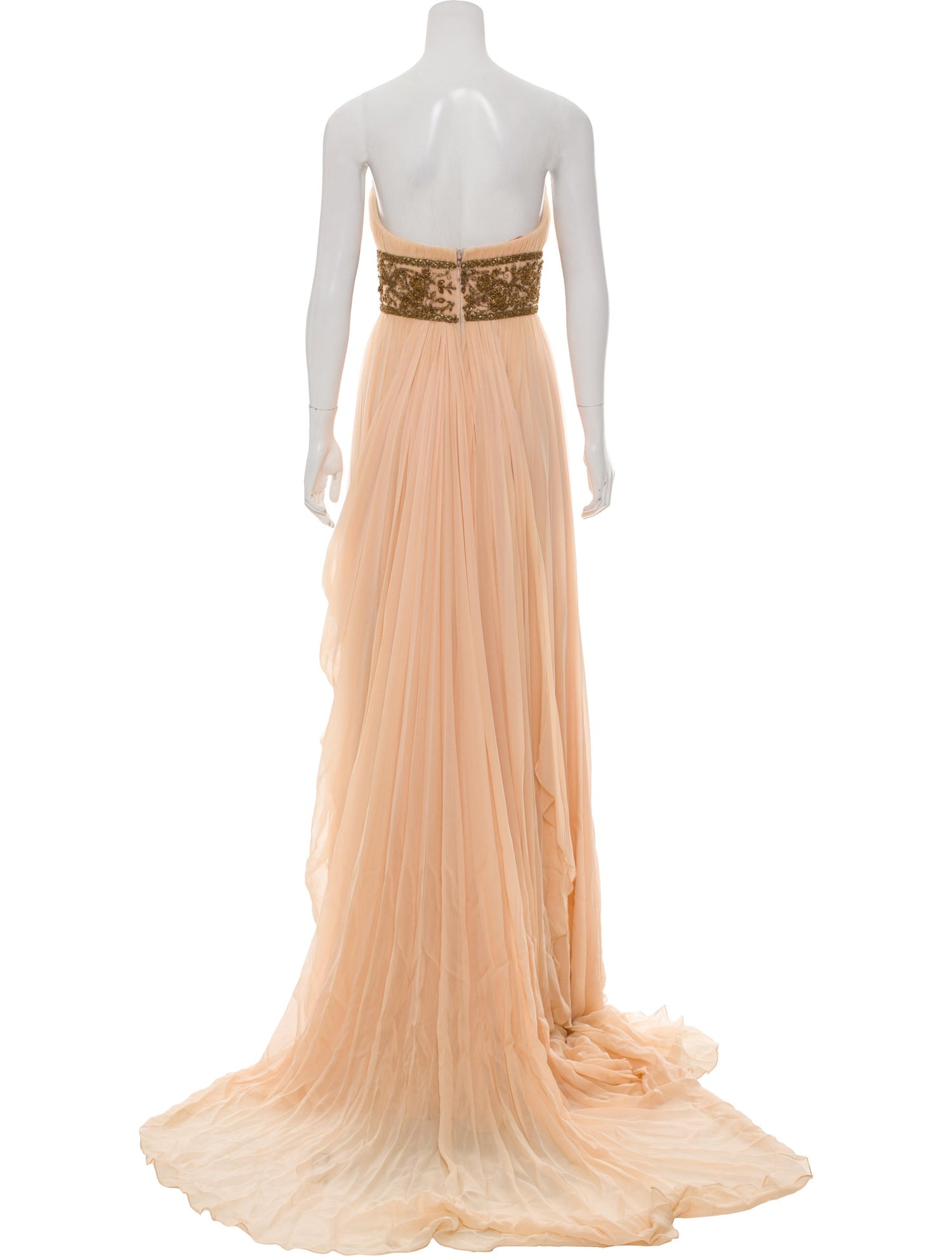 Peach Embellished Gown