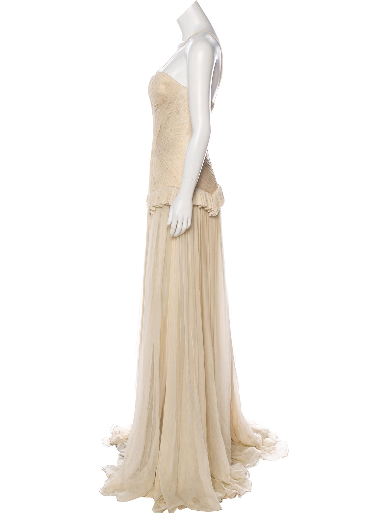 Ivory Silk Net Gown