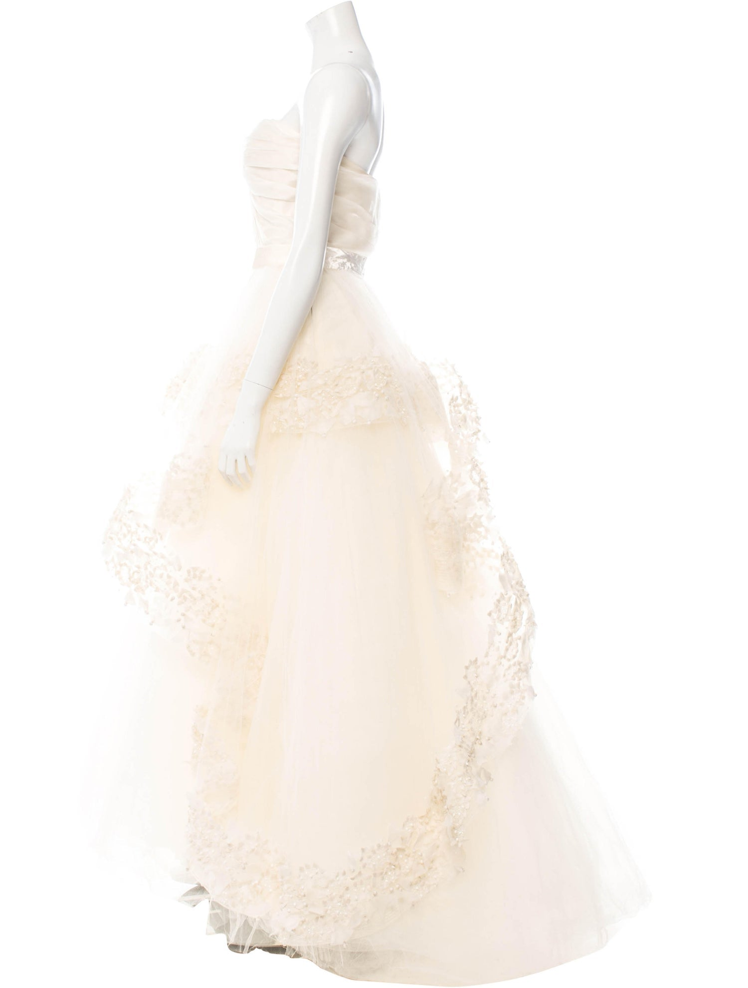 Ivory Tulle and Organza Gown
