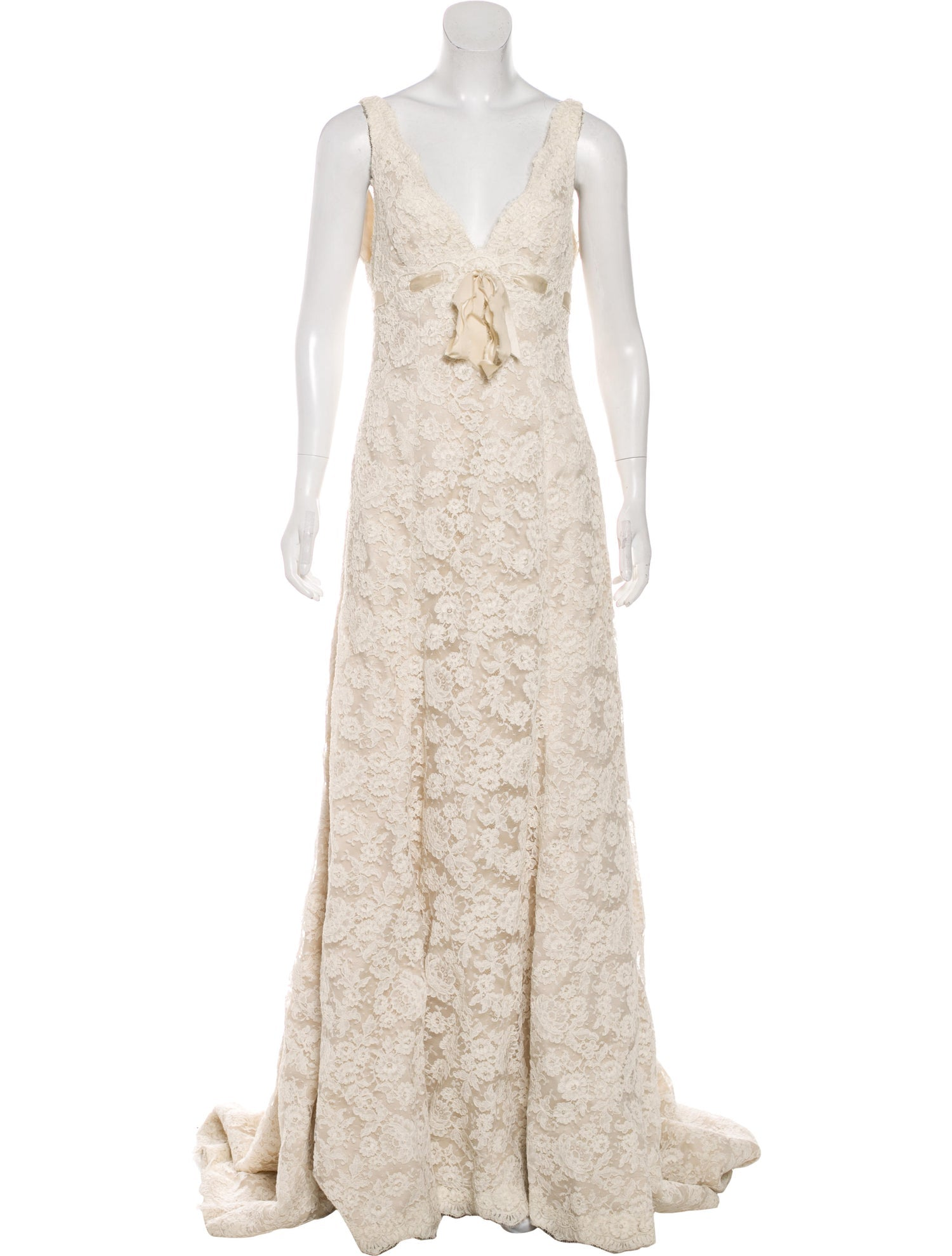 Creme Silk Lace Gown