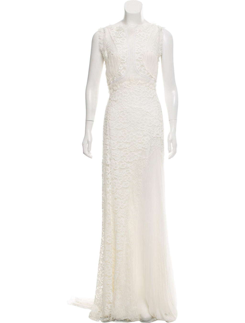 Ivory Lace and Chiffon Gown