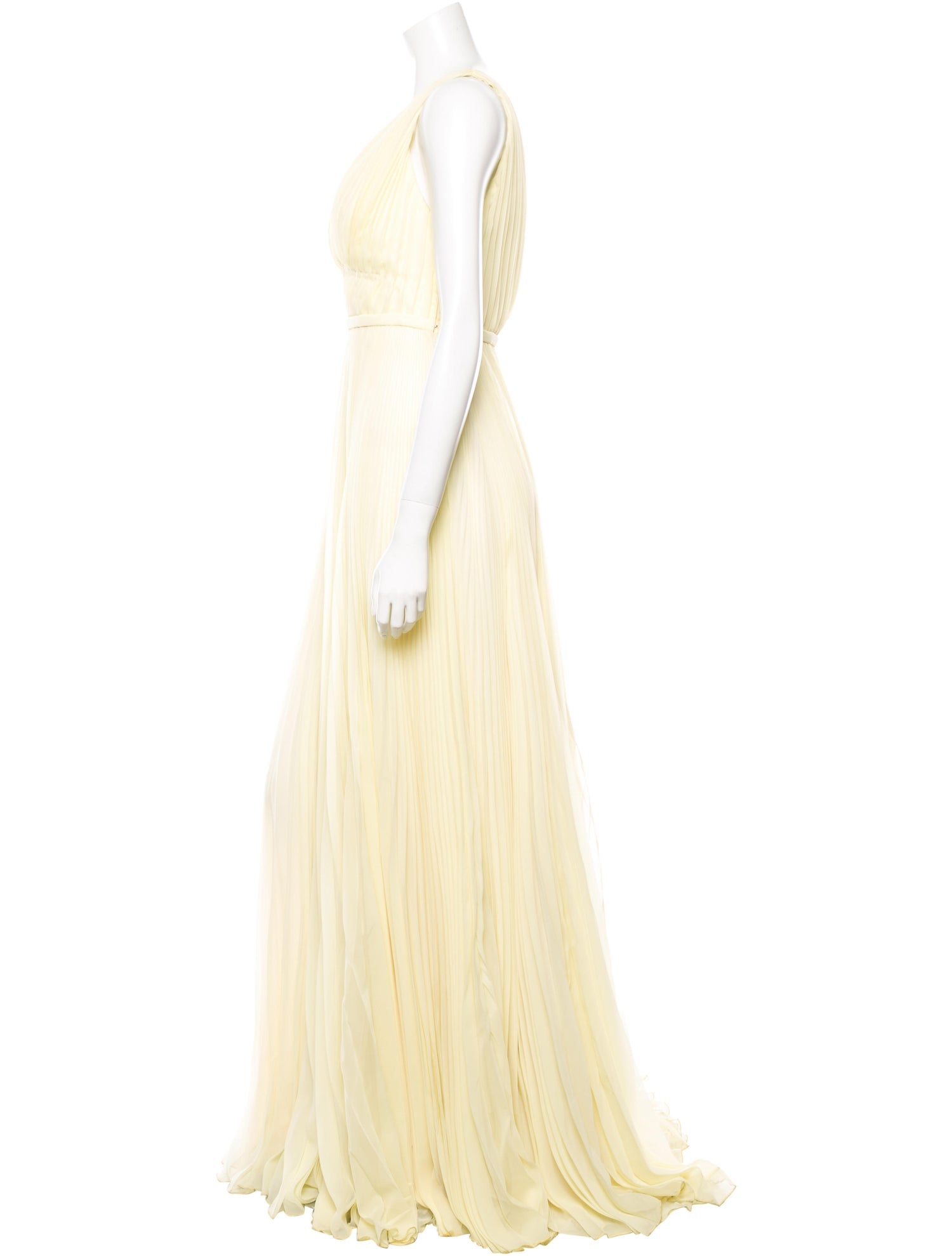 Buttercream Pleated Gown