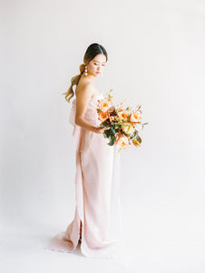 Light Pink Textured Organza Gown