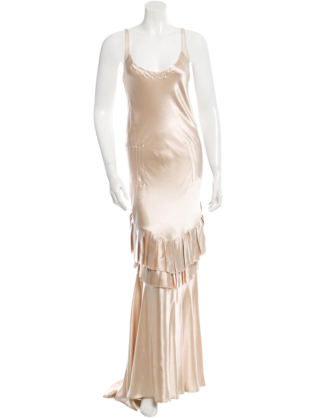 Cream Silk Charmeuse Gown