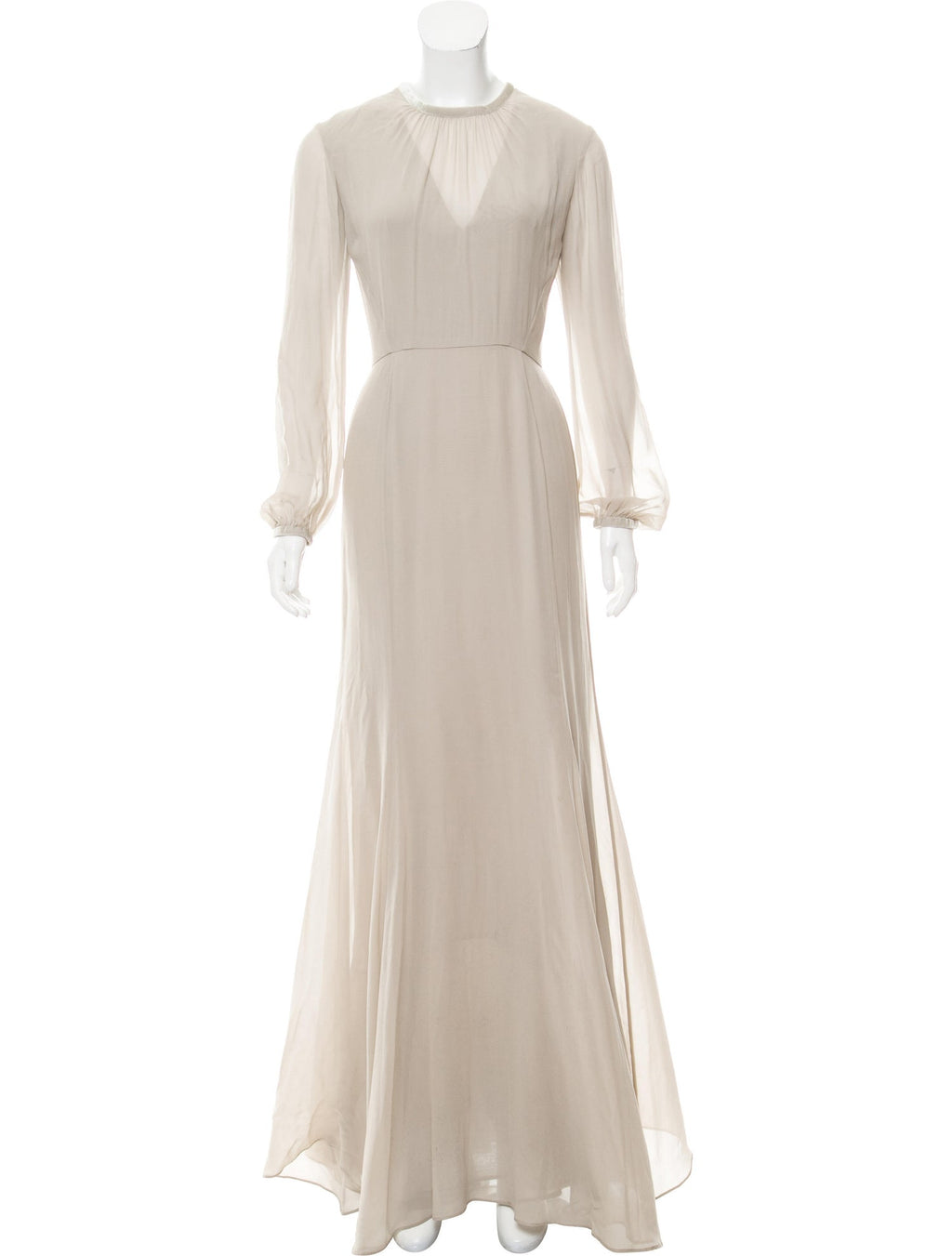 Dove Gray Poet Sleeve Gown