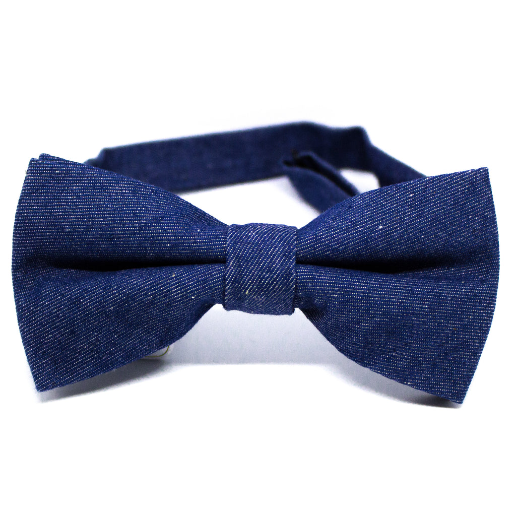 Dark Denim Bow Tie