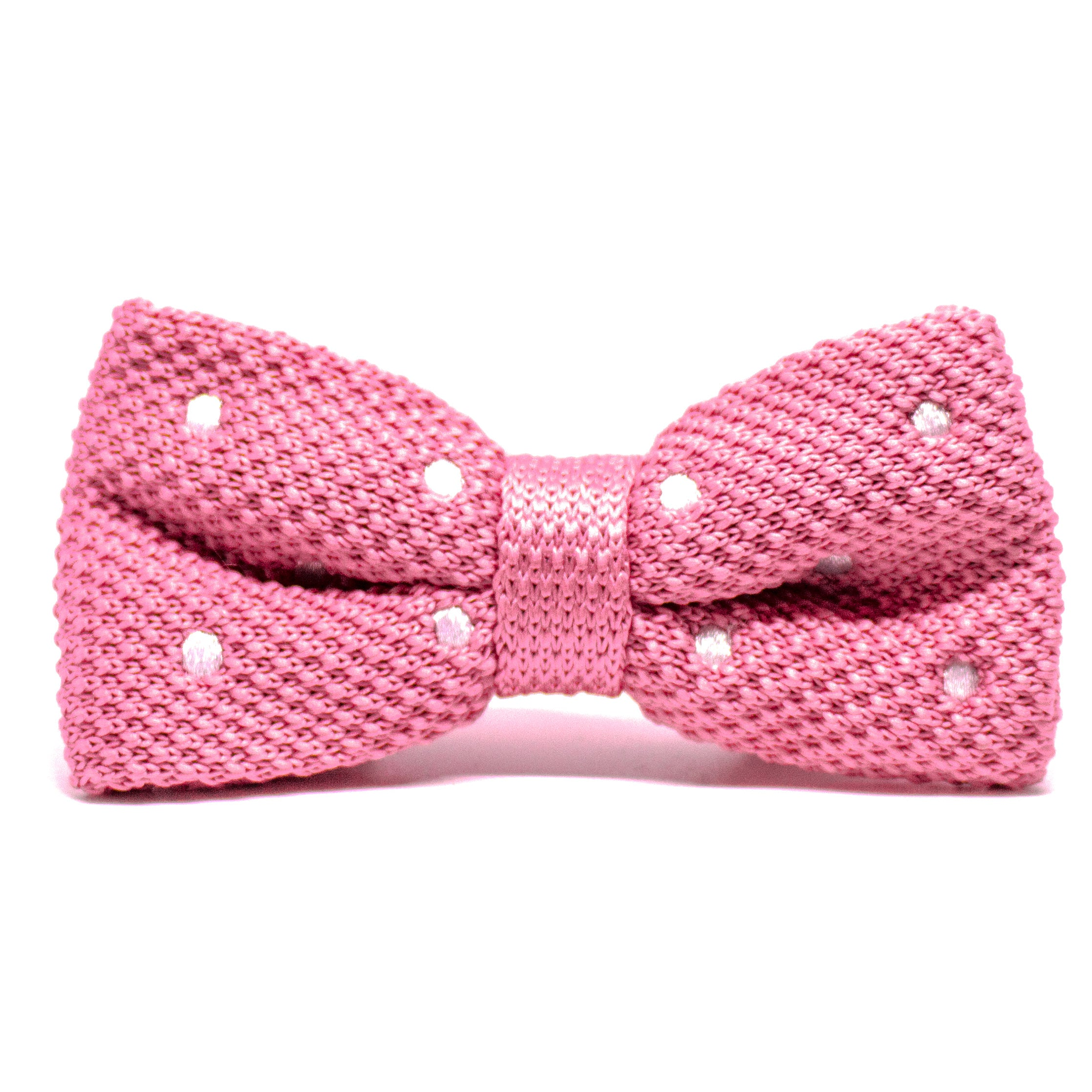 Pink Knit Bow Tie
