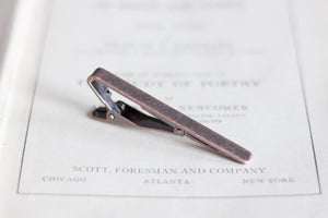Red Copper Tie Clip