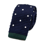 Dark Blue Knit Tie