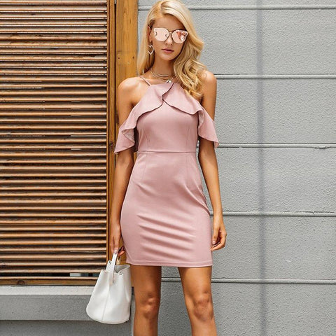 Spaghetti Strap Dress with Ruffles