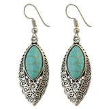 Bohemian Blue Stone Drop Earrings - BellaSmyle