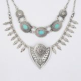 Bohemian Vintage Blue Stones Necklace - BellaSmyle