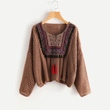 Tasseled Tie Sweater - BellaSmyle