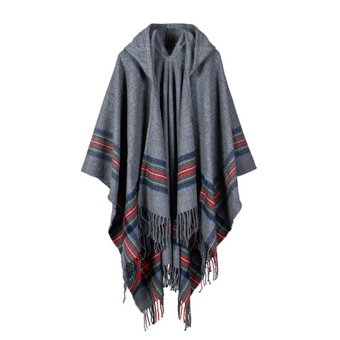Hooded Cape with Scarf