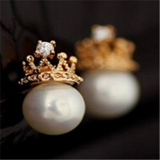 Jewelry New Brand Design Gold Color Pearl Stud Earrings For Women 2017 New Accessories Wholesale - BellaSmyle