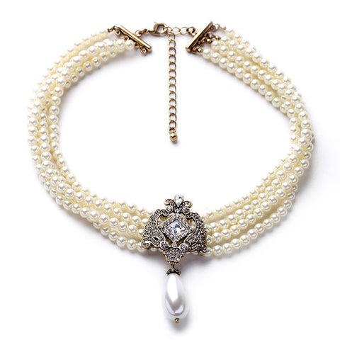 Multi-Layer Pearl Statement Necklace - BellaSmyle