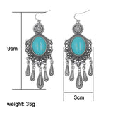 Boho Long Flower Drop Earrings - BellaSmyle