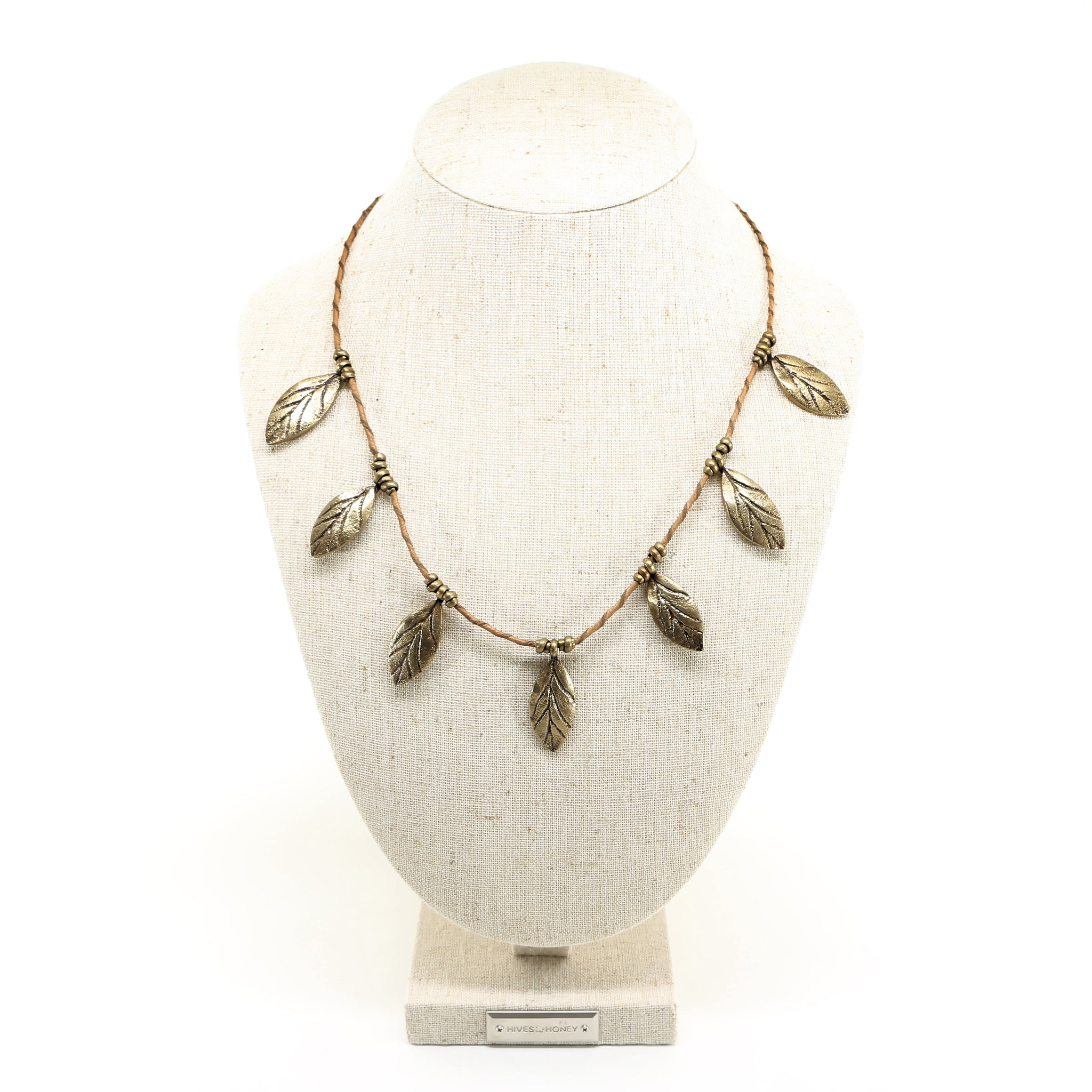 necklace leaves cleopatra product plumelogo jewellery mini collection