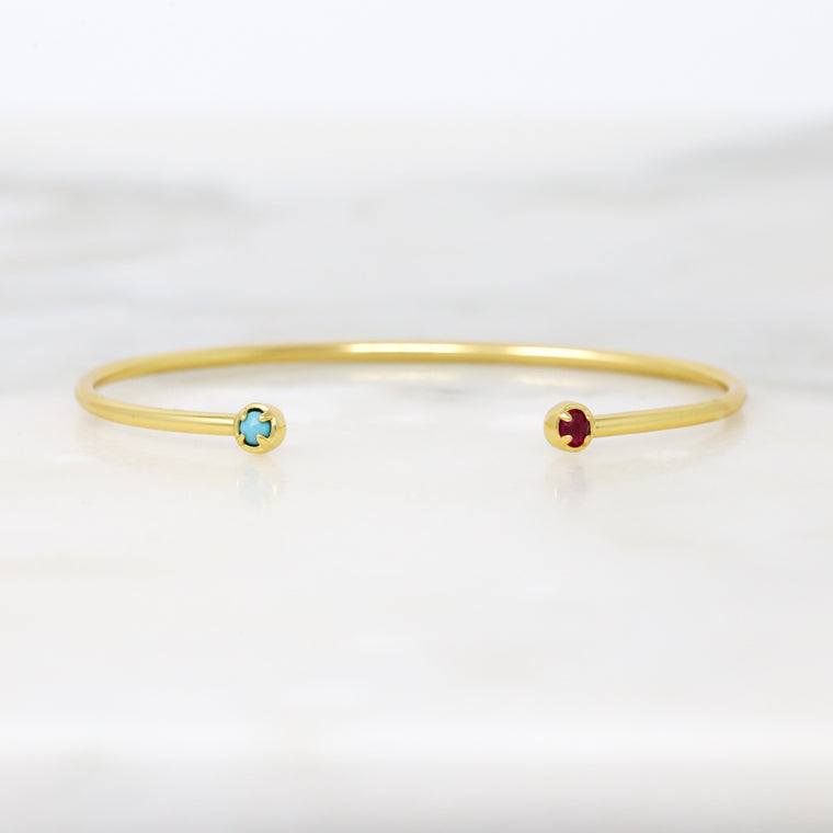 You and I Birthstone Bracelet