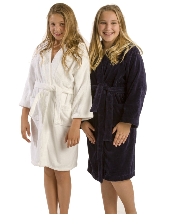 spa hooded kids robes
