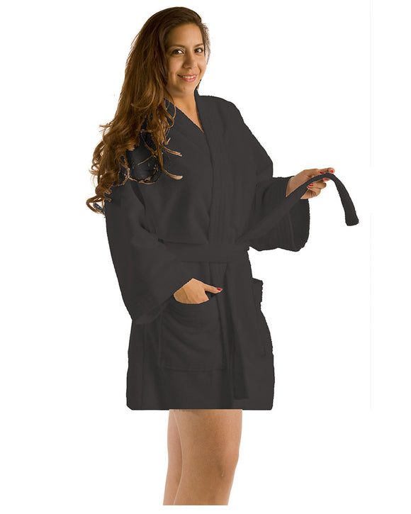 Microfiber Thigh Length Kimono Women's Robes