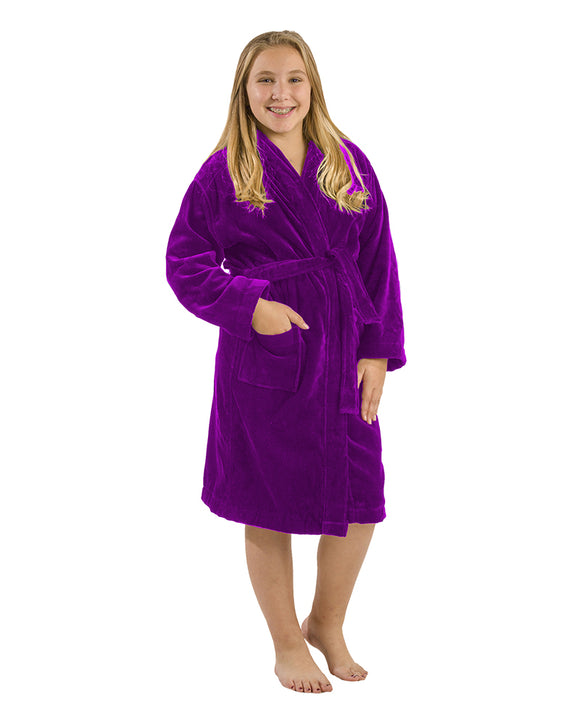 Cotton Hooded Kids Bathrobes