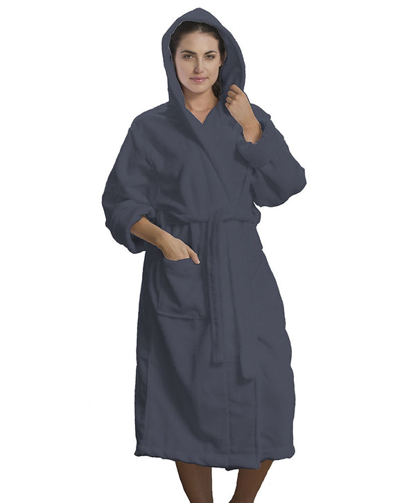 Microfiber Hooded Adult Bathrobes