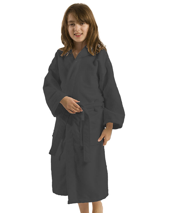 Microfiber Hooded Kids Bathrobes