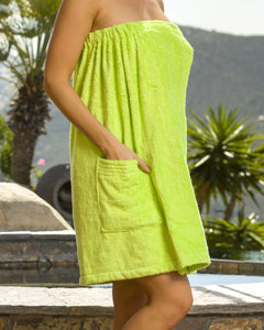 Terry Bamboo Spa Wrap with Pocket