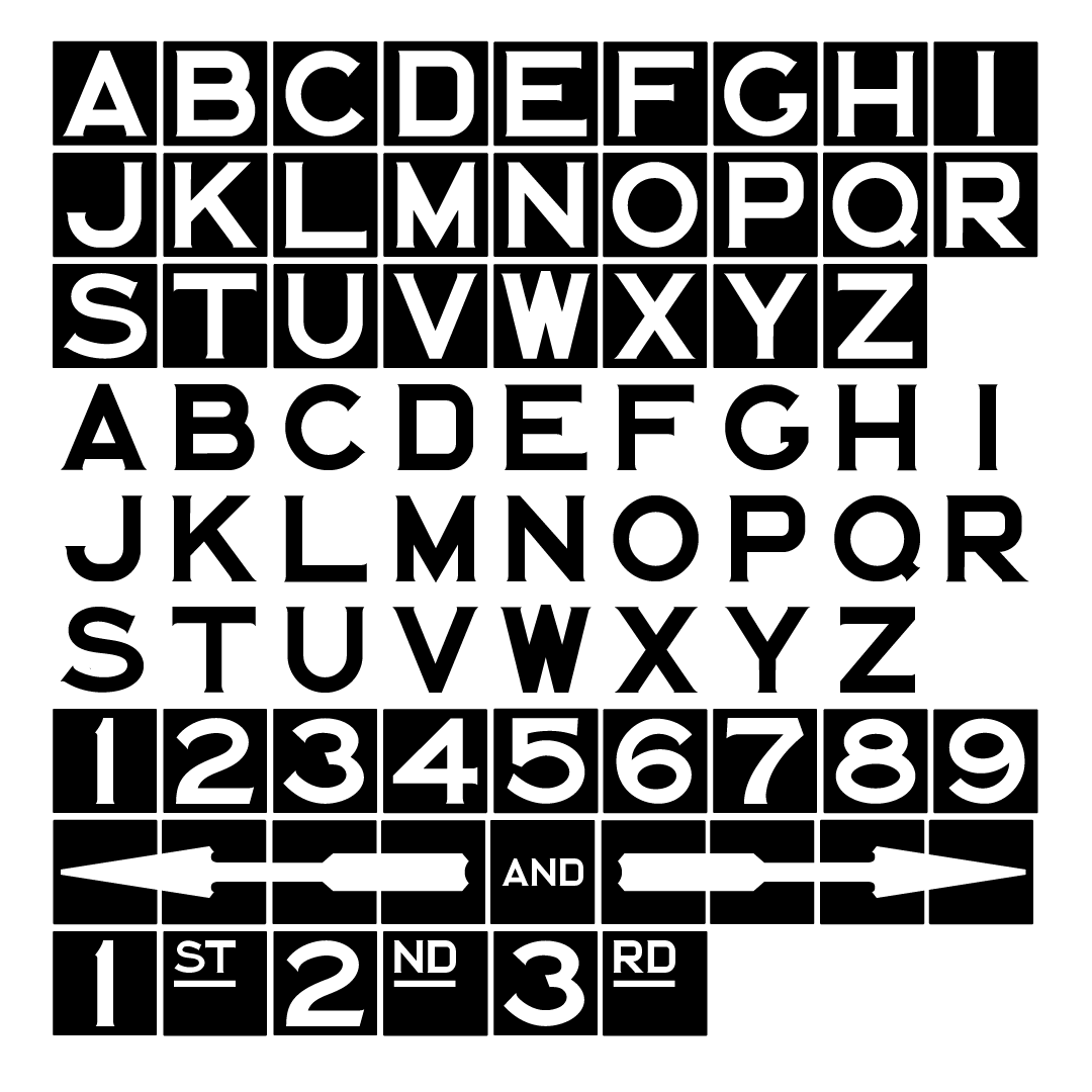 NYC Subway Typeface: Monospaced