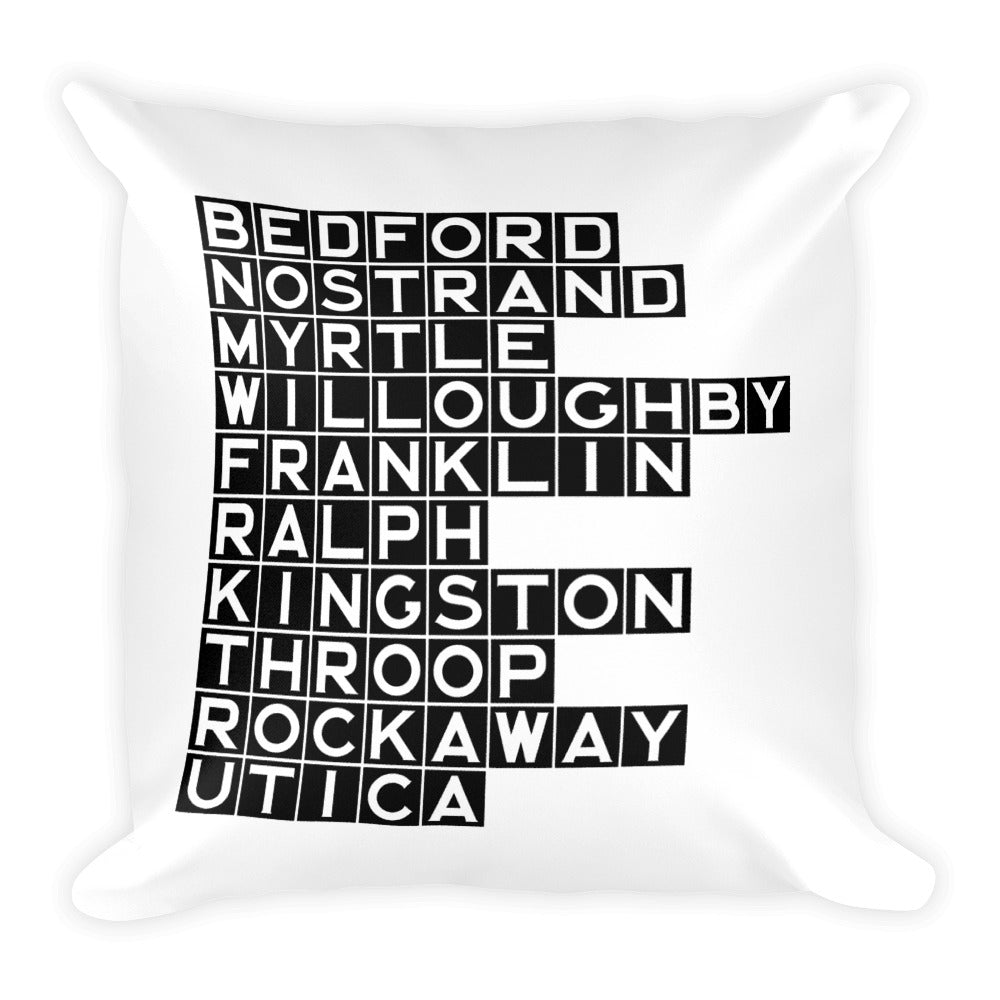 BED-STUY: Black Tile Square Pillow