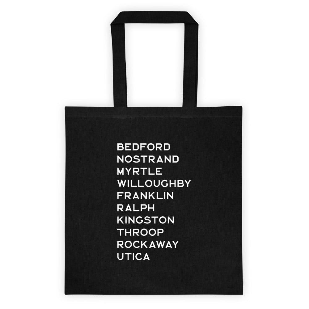 BED-STUY: Black Canvas Tote bag