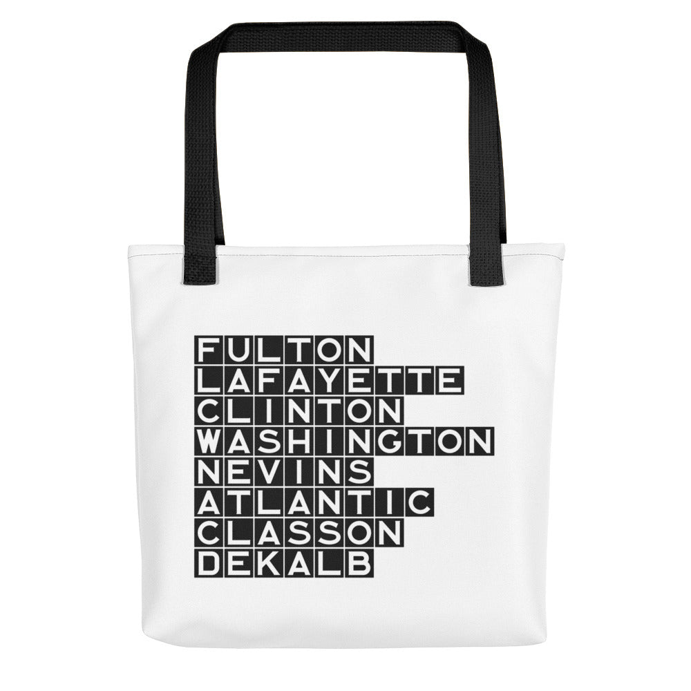 FORT GREENE & CLINTON HILL: White Poly Tote bag