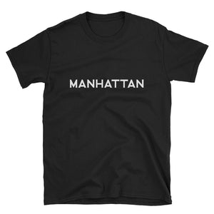 MANHATTAN: Black Crewneck T-Shirt
