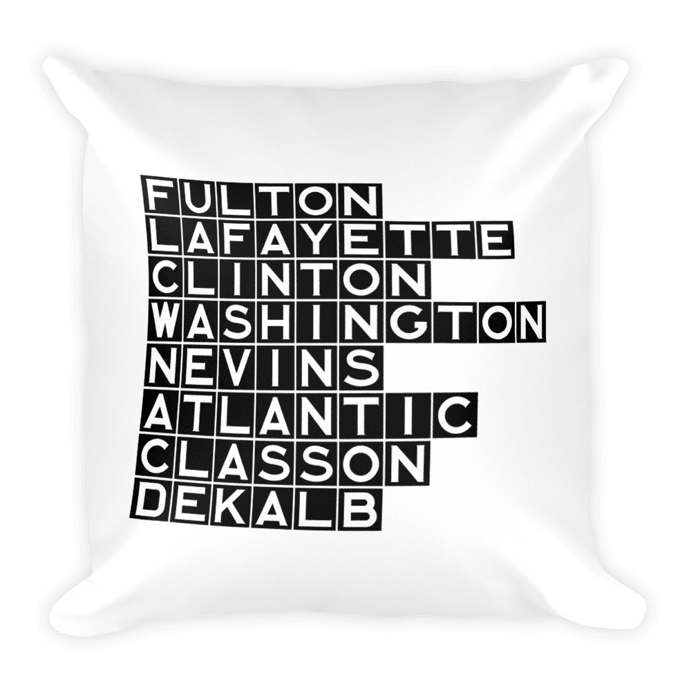 FORT GREENE & CLINTON HILL: Black Tile Square Pillow