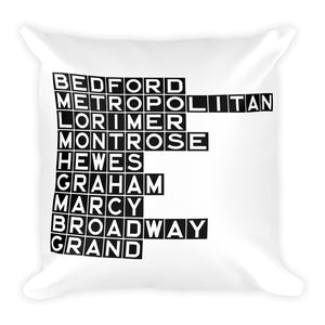 WILLIAMSBURG: Black Tile Square Pillow