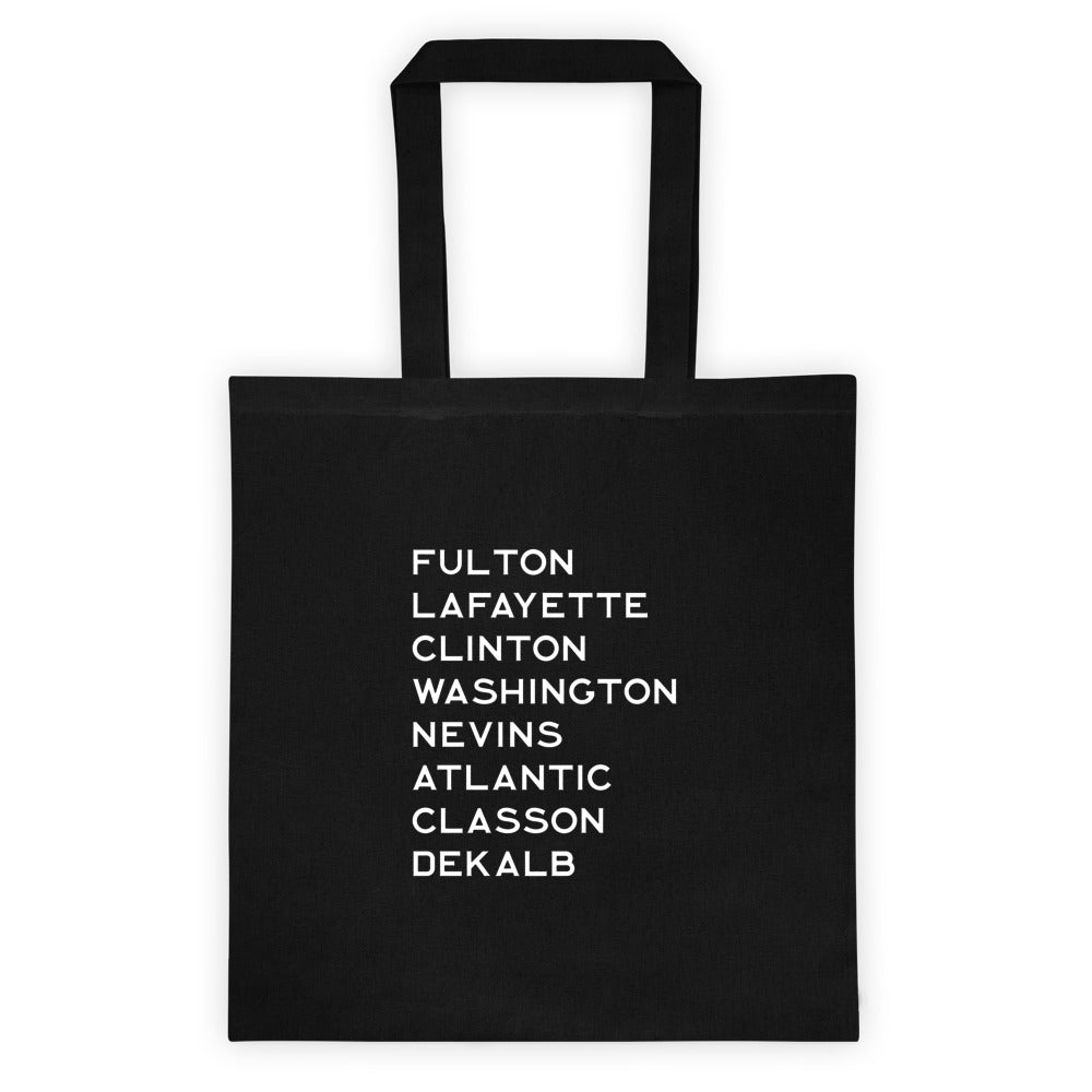 FORT GREENE & CLINTON HILL: Black Canvas Tote bag